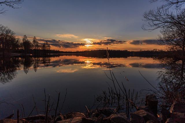 Sunset, Waters, Dawn, Nature, Dusk, Lake, Evening, Tree