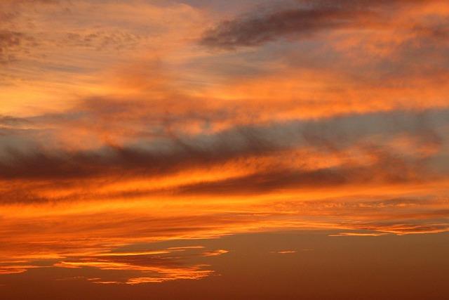 Sunset, Orange, Dusk, Sky, Clouds, Outdoors, Scenic