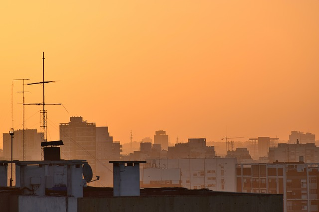 Sunset, Evening, Afternoon, Orange, Partly Cloudy, Dusk