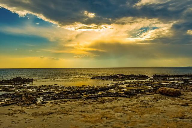 Sunset, Sea, Beach, Dusk, Sky, Clouds, Nature