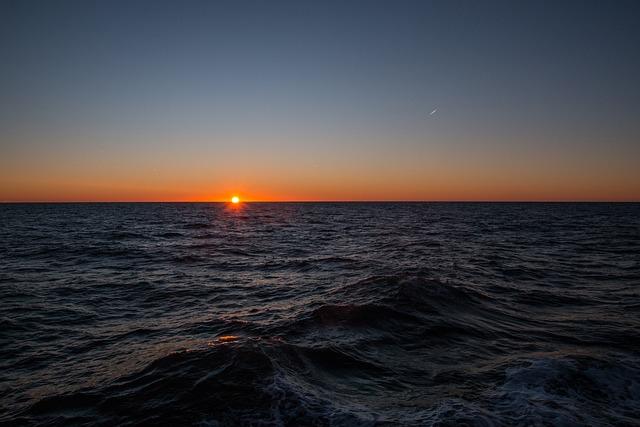Sunset, Waters, Sea, Sun, Dusk, North Sea