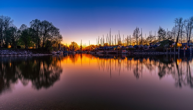 Reflection, Waters, Sunset, Lake, Nature, Dusk