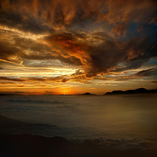 Sunset, Dawn, Evening, Dusk, Waters, Sun, Sky