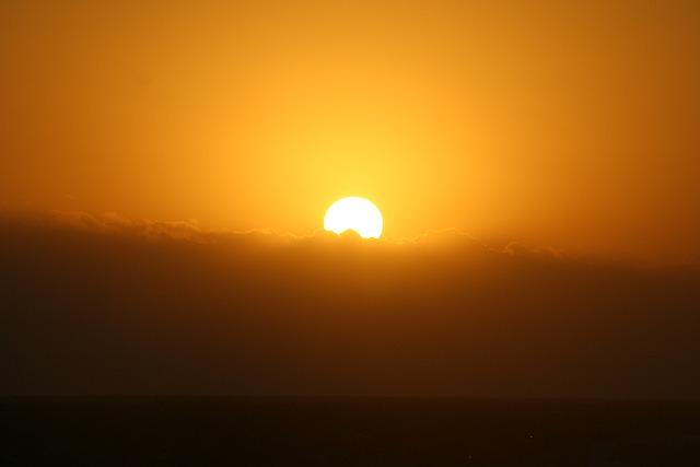 Sun, Setting Sun, Sunset, Water, Clouds, Sky, Dusk