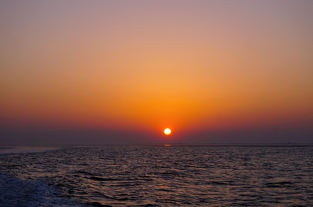 Sunset, Sun, Waters, Dawn, Dusk, Summer, Sea