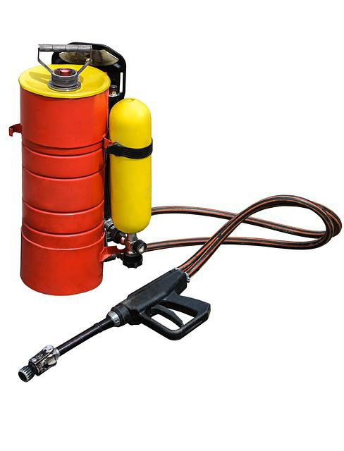Dust, Hose, Tool, Red, Chemical, Old, Extinguisher