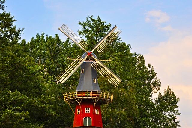 Dutch Windmill, Windmill, Mill, Holland, Traditional
