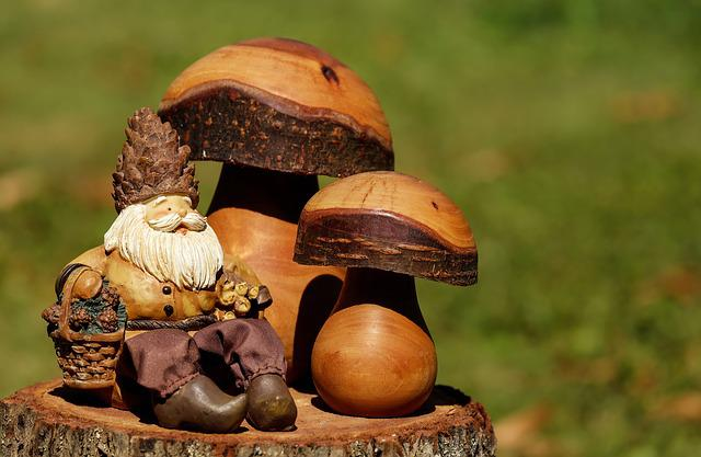 Dwarf, Imp, Males, Cute, Mushrooms, Forest, Deco