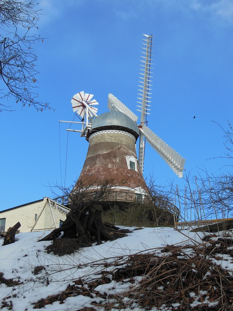 Old Windmill, Dyrhave Mill, 1800, Century