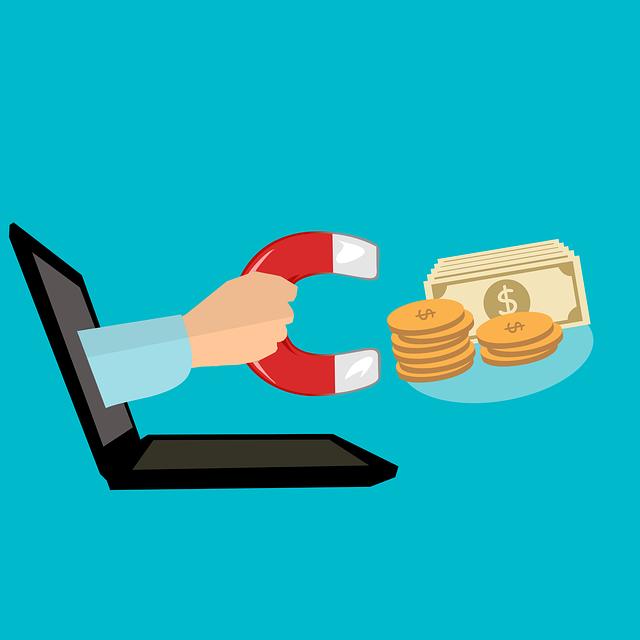 E-commerce, Business, Work On Line, Money, Wallet