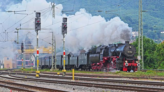 Steam Train, Steam Locomotive, Early Train, Exit