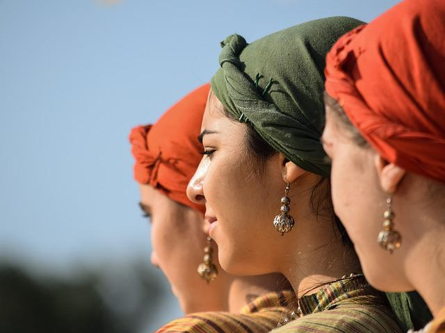 Girl, Head Kerchief, Earring, Traditional, Folklore