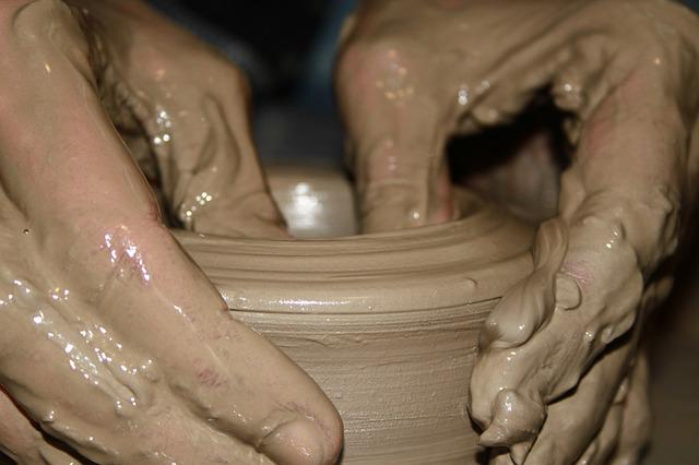 Hand, Closeup, Earth, Pottery