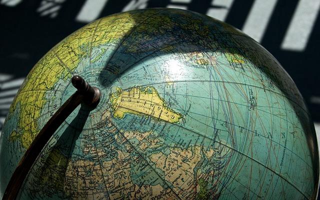 Greenland, Earth, Globe, Antique, North America
