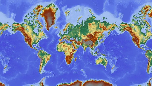 Map Of The World, Map, Relief Map, Earth, Country