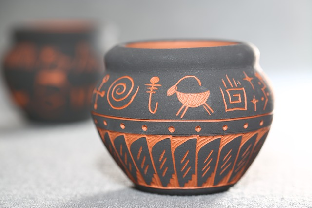 American Indian Style, Pottery, Vase, Clay, Earthenware