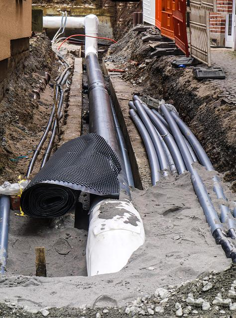 Site, Pipes, Earthworks, Excavation, Underground Cables