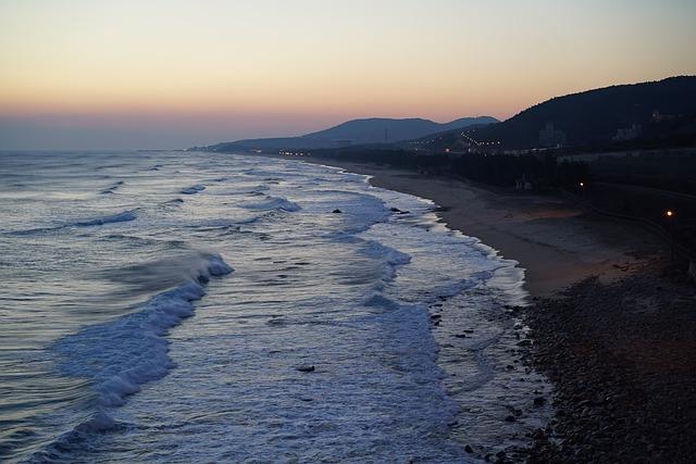 Sea, Beach, Coastal, East Coast, Sunrise, Dawn Dusk