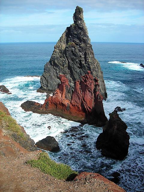 Madeira, East Coast, Booked, Ocean, Atlantic, Rock
