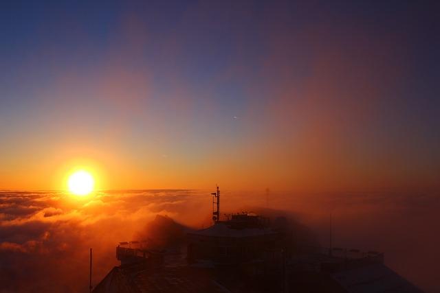 Zugspitze, Bavaria, East Summit, Sunrise, Alpine