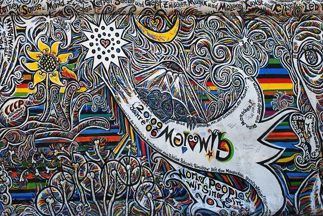 Graffiti, Berlin, East-side-gallery, Berlin Wall