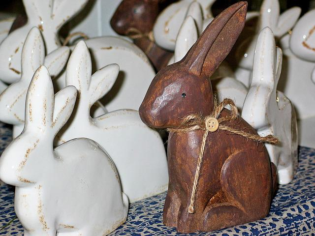Easter Bunny, Decoration, Wood, Wood Deco, Of Course