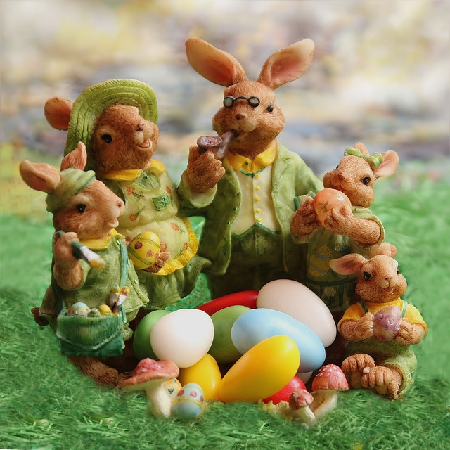 Easter, Easter Bunny Family, Decoration, Easter Eggs
