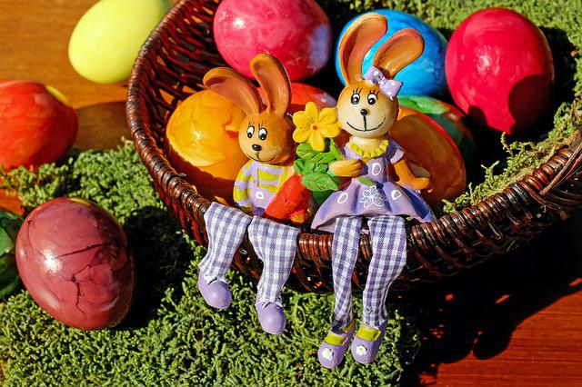 Easter Bunny, Easter, Figure, Rabbit, Sit, Cheerful