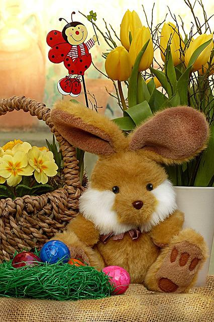Easter Bunny, Deco, Still Life, Easter Eggs