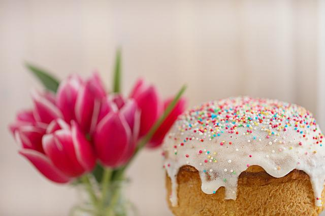 Easter Cake, Easter, Holiday, Religion, Symbol, Tulip