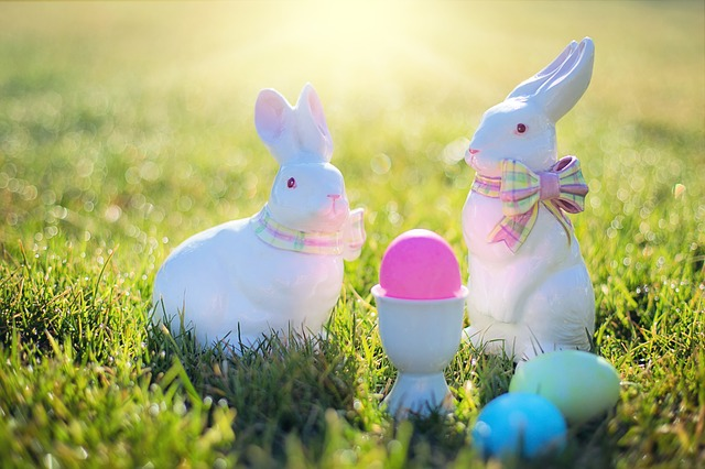 Easter, Easter Bunnies, Rabbits, Easter Eggs, Colorful