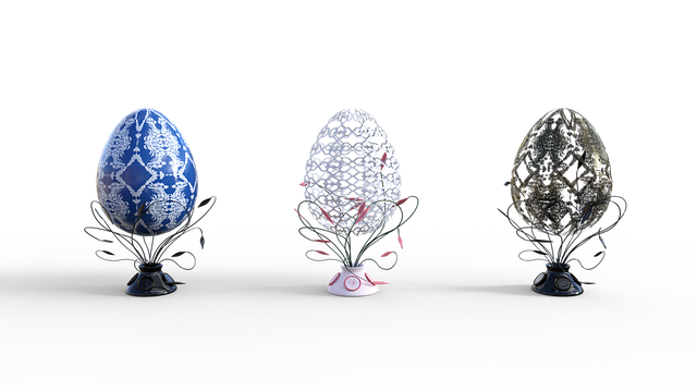 Egg, Easter, Jewelry, Stand, Decor, Lace, Holiday