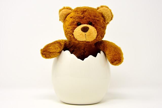 Easter Egg, Ceramic, Eggshell, Teddy, Easter, Funny