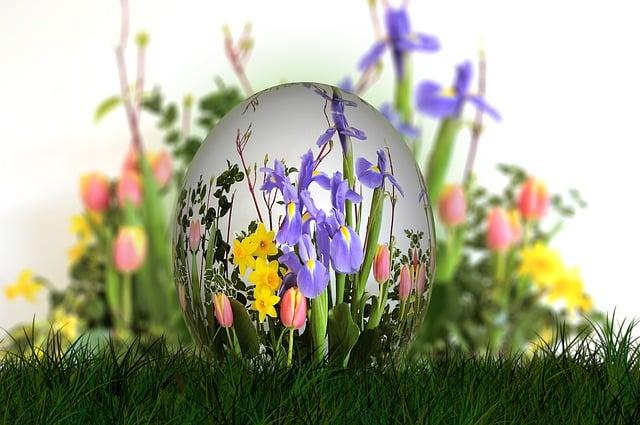 Bouquet, Easter, Egg, Easter Egg, Flowers, Spring