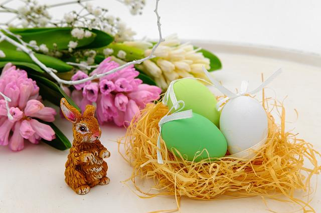 Easter Eggs, Egg, Nest, Easter Nest, Easter, Hare