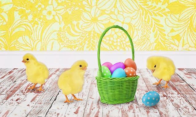 Easter, Chicks, Baby Chicks, Easter Eggs, Easter Basket