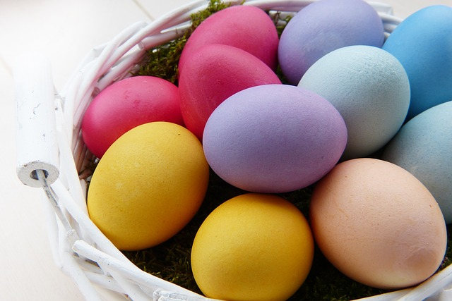 Easter Eggs, Colorful, Natural Color, Colored, Dye Eggs