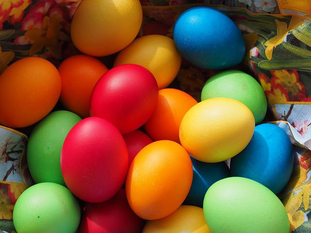 Easter Eggs, Colorful, Color, Happy Easter