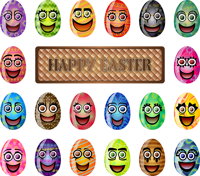 Easter Eggs, Faces, Laughing, Smiling, Smile, Colorful