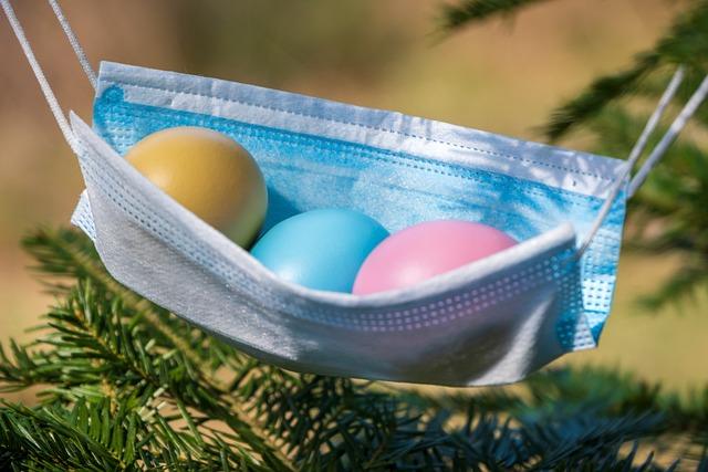 Easter, Easter Eggs, Corona, Mask, Covid-19