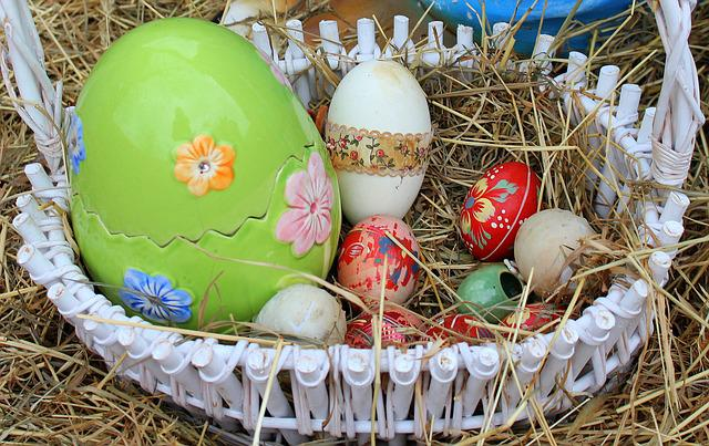 Eggs, Easter Eggs, Shopping Cart, Easter Decorations