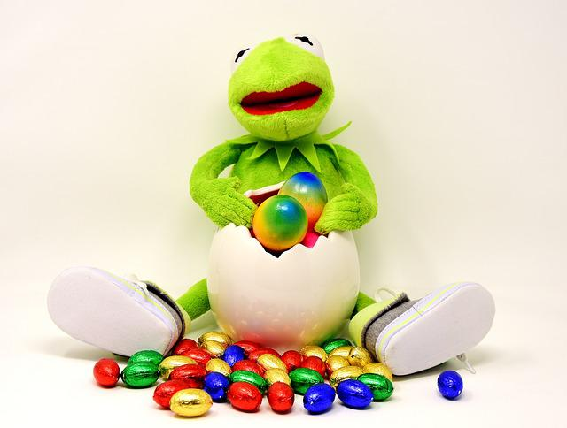 Easter, Easter Eggs, Kermit, Funny, Colored