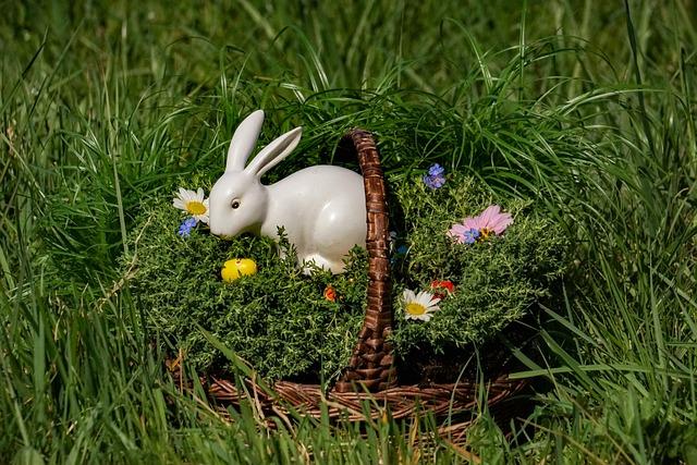 Osterkorb, Easter Bunny, Easter Eggs, Easter, Flower