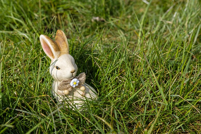 Hare, Easter Bunny, Easter, Figure, Clay Figure, Sound