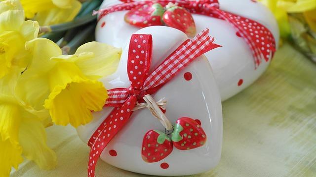 Heart, Love Gift, Daffodils, Easter, Easter Gift