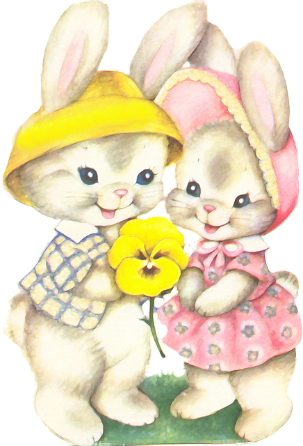 Rabbits, Easter, Casal, Love, Childish, Graceful