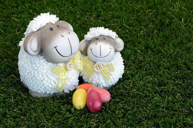 Sheep, Easter, Sugar Eggs, Decoration, Easter Greeting