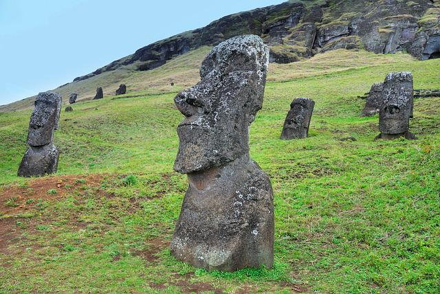 Chile, Easter Island, Moai, Rapa Nui, Sculpture