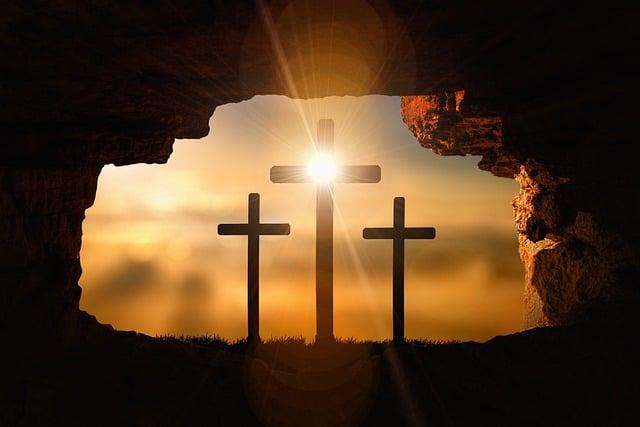 Resurrection, Crosses, Crucifixion, Easter, Jesus, Cave