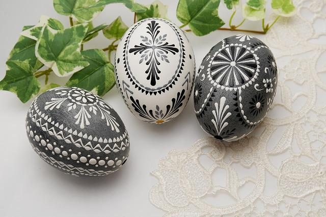 Easter Nest, Geese Eggs, Bossi Technology, Decoration